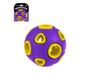 Іграшка для собак BRONZEDOG JUMBLE AIRBALL 7 см фіолетово-жовтий Y000284-01A/L/T