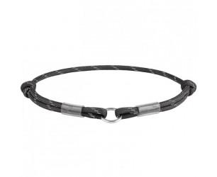 Шнурок для адресника з паракоду WAUDOG Smart ID, світловідбиваючий, розмір М, діам. 4мм, довж. 42-76см чорний