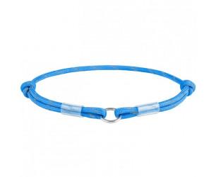 Шнурок дл адресника з паракоду WAUDOG Smart ID, світловідбиваючий, розмір М, діам. 4мм, довж. 42-76см синій
