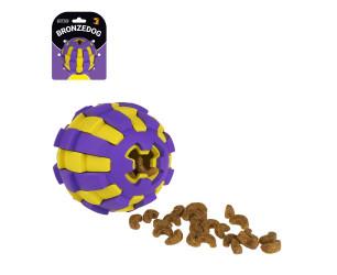 Іграшка для собак BRONZEDOG JUMBLE двошарові М'ЯЧ 6,5 СМ фіолетово-жовтий Y000315W/T